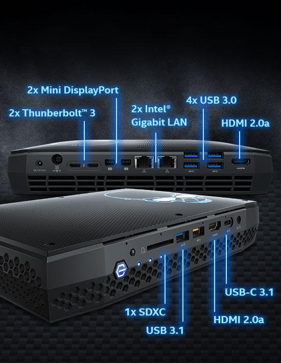 Intel BOXNUC8I7HVK4 i7-8809G NUC Barebone Kit (BOXNUC8I7HVK4